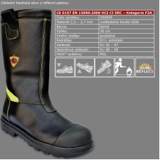 Hasičská zásahová obuv HAIX FIREMAN YELLOW
